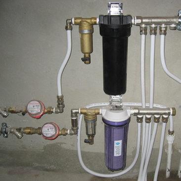 Установка счетчиков и фильтров воды